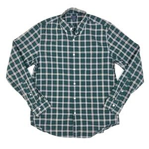 J Crew Heathered Cotton Plaid Button Down Shirt
